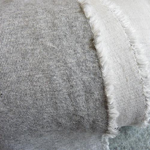 Serena Cotton ribbed Sweatshirt Knit - Light Heathered Gray