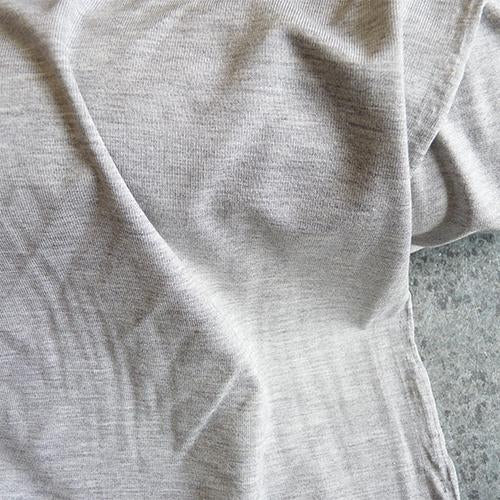 Viscose Jersey knit fabric - Light Heathered Gray