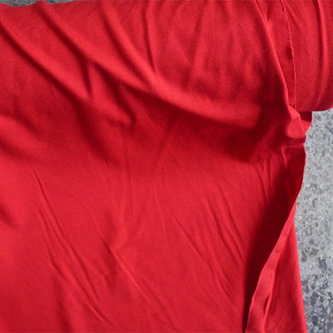 Viscose Jersey knit fabric - red