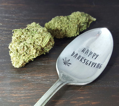 Happy Danksgiving Hand Stamped Thanksgiving Spoon