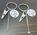 weed be cute together cannacouple keychain set