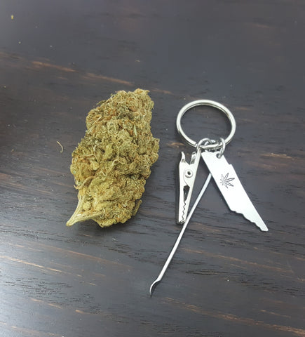 Tennessee State Key Chain with Smoking Tools