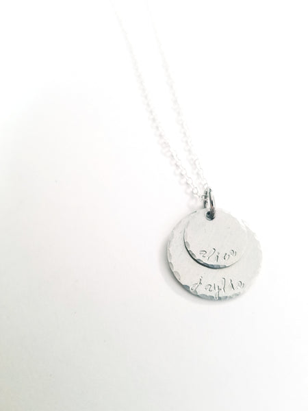 Custom layered name necklace