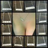 Customize Your Own Weed Jewelry Bar Necklace