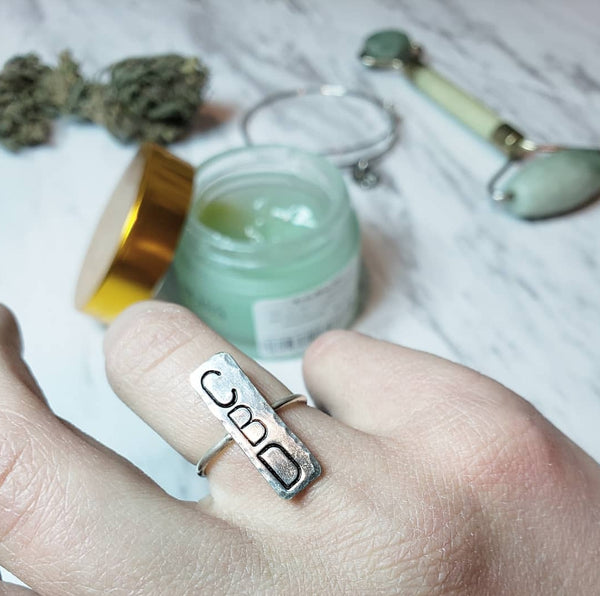 CBD large statement ring- sterling silver