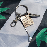 Freedom Doesn't Exist if Nature is Illegal Keychain- Hand Stamped Cannabis Jewelry
