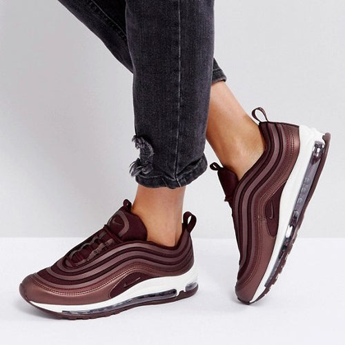 NIKE AIR MAX 97 TRAINERS IN METALLIC MAHOGANY
