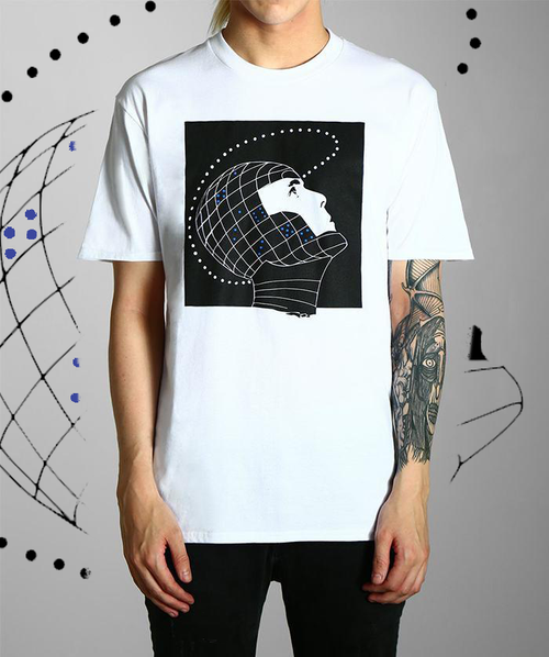 Paradice Constellations White Graphic Tee