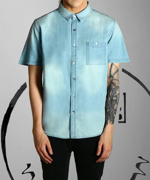 Paradice Mid Wash Blue Denim Shirt