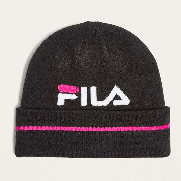 FILA PINK/BLACK AND WHITE BEANIE