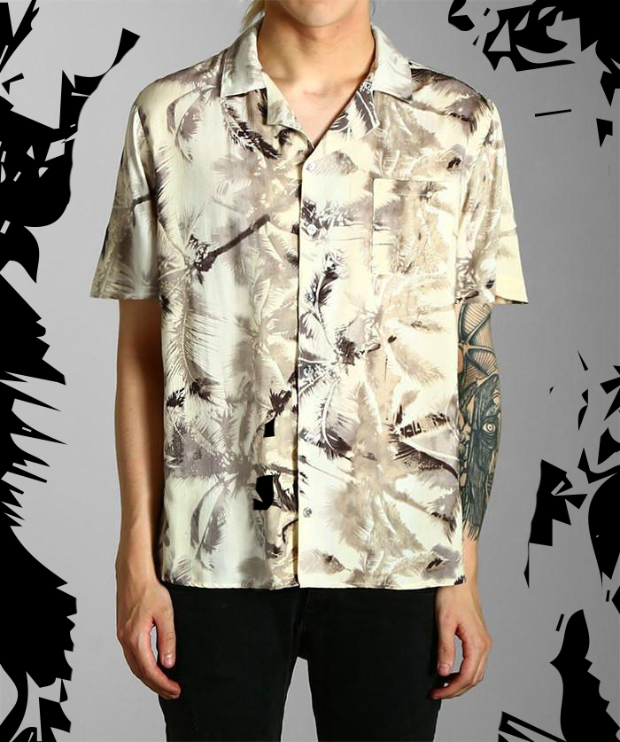 Paradice Miami Vice Palm Print Cuban Shirt