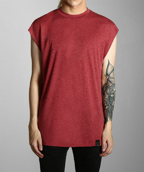Red Sleeveless Tee