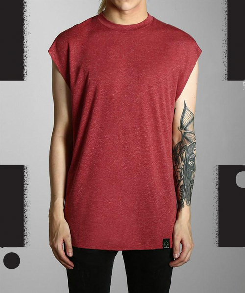 Paradice Red Sleeveless Tee
