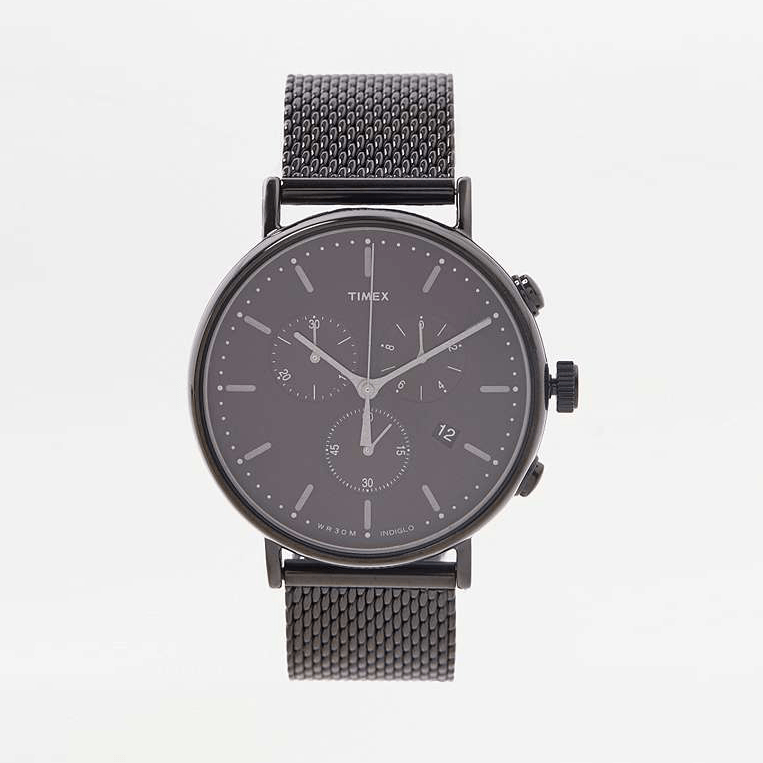 TIMEX FAIRFIELD CHRONOGRAPH BLACK MESH WATCH