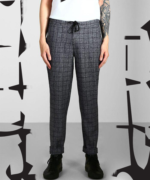 Paradice Constellations Navy Check Trousers