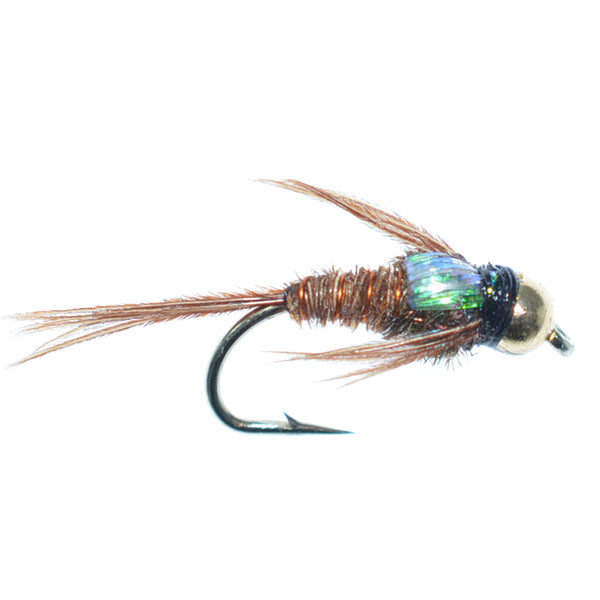 Bead Head Flashback Pheasant Tail Nymph Fly Fishing Flies Hook Size 12