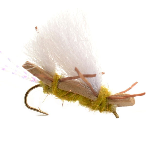 Chubby Chernobyl Ant Golden Foam Body Grasshopper Fly - Hook Size 10