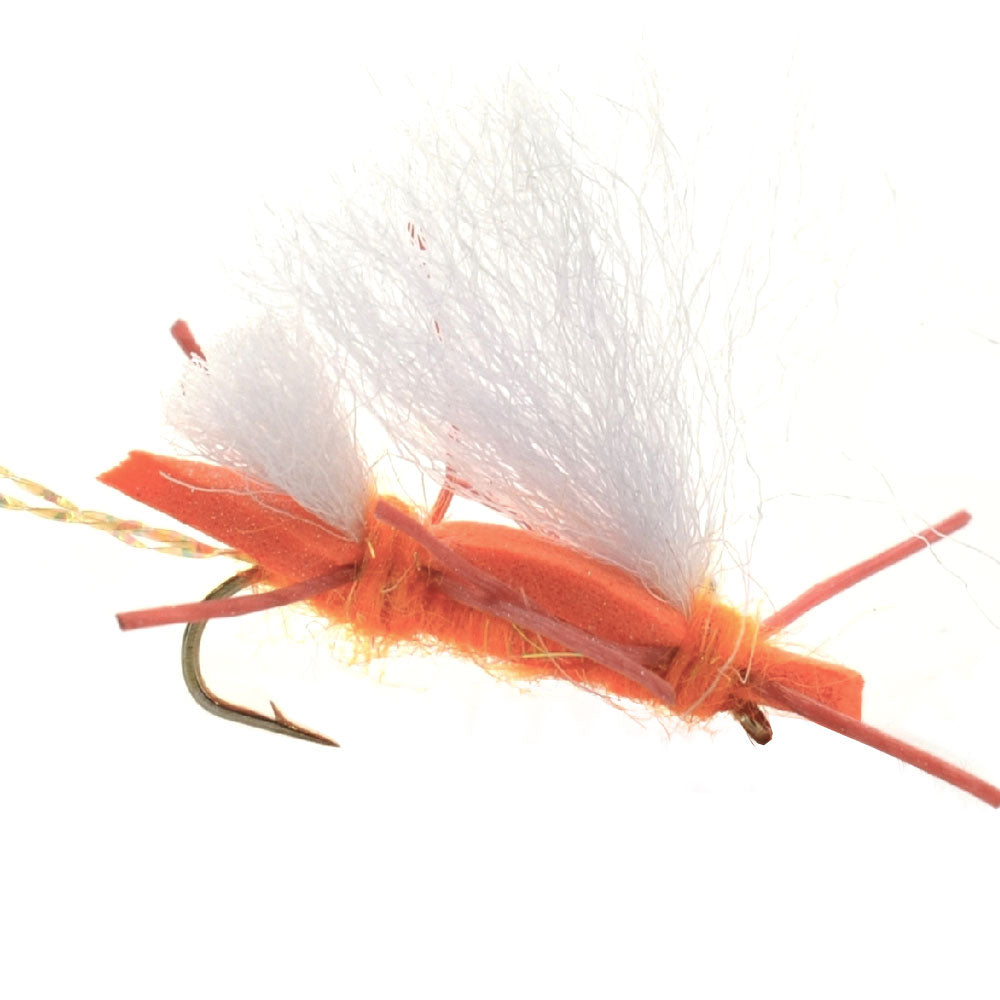 Chubby Chernobyl Ant Orange Foam Body Grasshopper Fly - Hook Size 10