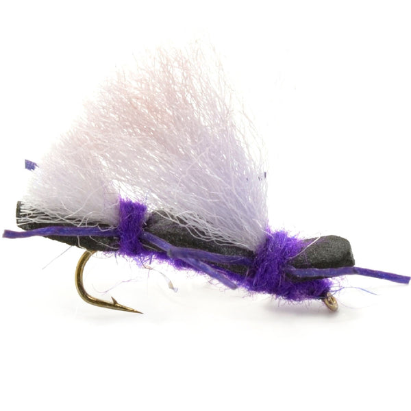Chubby Chernobyl Ant Purple Foam Body Grasshopper Fly - Hook Size 10