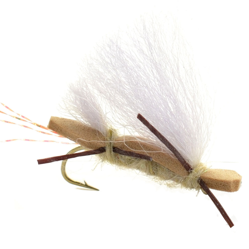Chubby Chernobyl Ant Tan Foam Body Grasshopper Fly - Hook Size 10