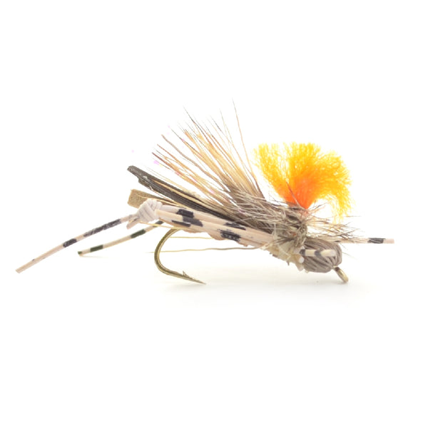 Feth Hopper Tan - Foam Grasshopper Fly Pattern - Hook Size 10