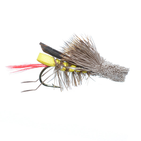 Dave's Hopper Yellow Foam Body Grasshopper Fly - Hook Size 12