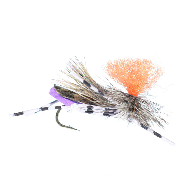 Feth Hopper Purple - Foam Grasshopper Fly Pattern - Hook Size 10