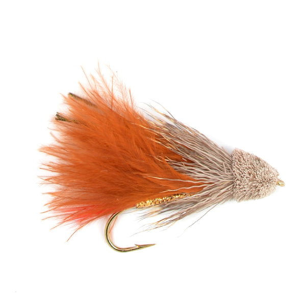 Brown Marabou Muddler Minnow Trout and Bass Streamer Fly - Hook Size 4