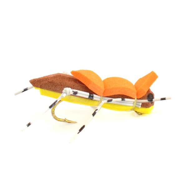Morrish Hopper Yellow/Tan Foam Body Grasshopper Fly - Hook Size 10