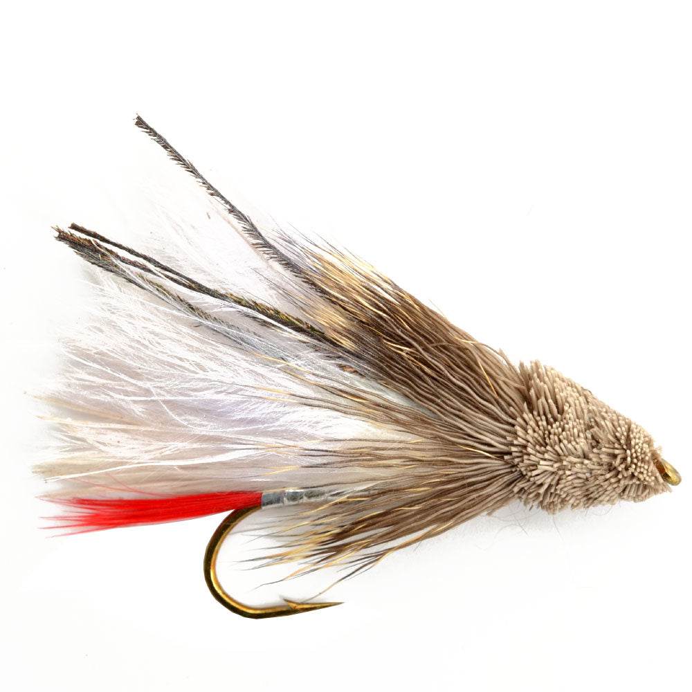 White Marabou Muddler Minnow Trout and Bass Streamer Fly - Hook Size 4