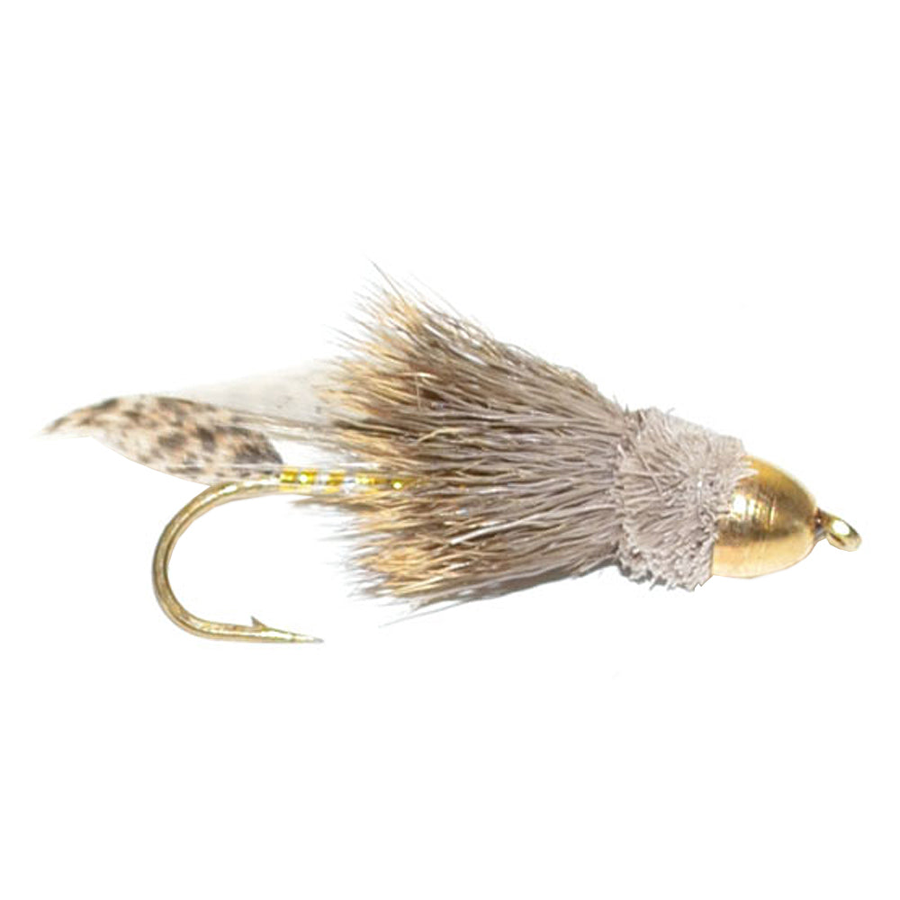 Cone Head Muddler Minnow Trout and Bass Streamer Fly - Hook Size 10
