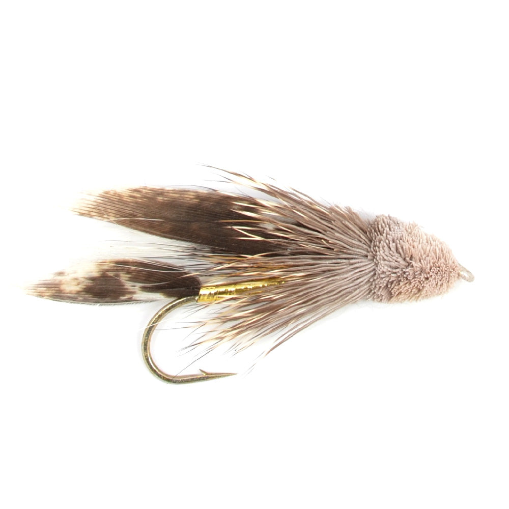 Muddler Minnow Trout and Bass Streamer Fly - Hook Size 4