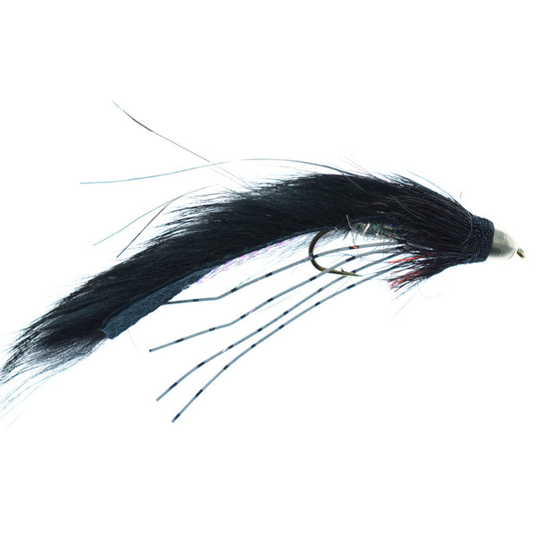 Cone Head Muddy Buddy Trout and Bass Streamer Fly -Lunchables - Black - Hook Size 4