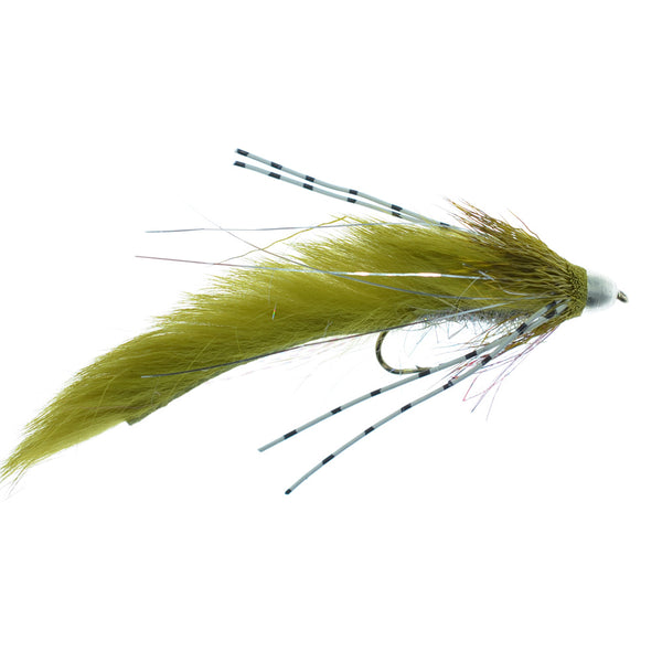 Cone Head Muddy Buddy Trout and Bass Streamer Fly - Lunchables - Olive - Hook Size 4