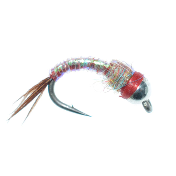 Bead Head Rainbow Warrior Nymph Fly Fishing Flies Hook Size 14