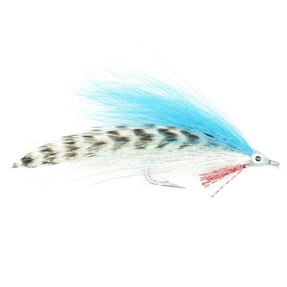 Lefty's Deceiver Fly Fishing Fly - Blue/Grizzly - Hook Size 1/0