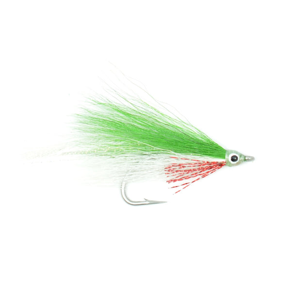 Lefty's Deceiver Fly Fishing Fly - Green/White - Hook Size 1/0