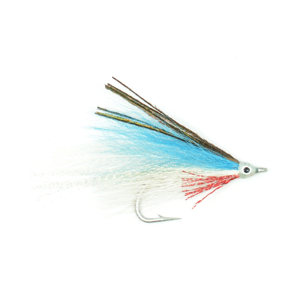Lefty's Deceiver Fly Fishing Fly - Blue/White - Hook Size 1/0