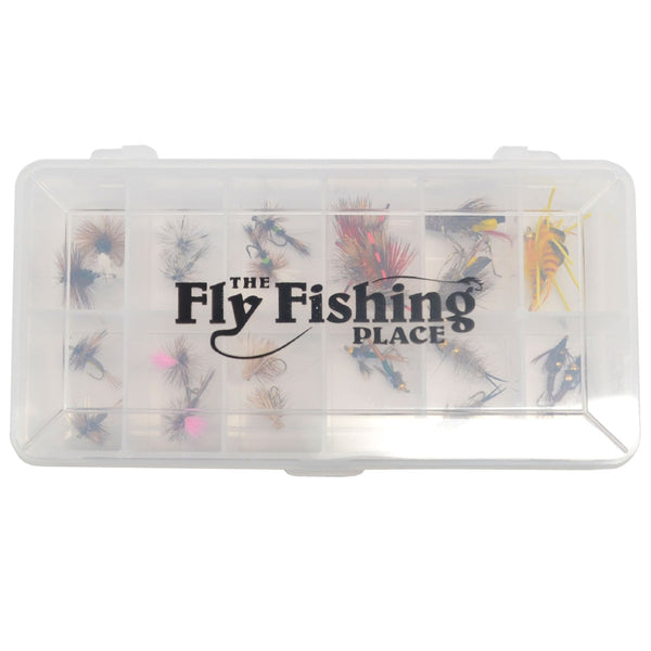 Trout Fly Assortment - Essential Western Dry and Nymph Fly Fishing Flies Collection - 2 Dozen Trout Flies with Fly Box