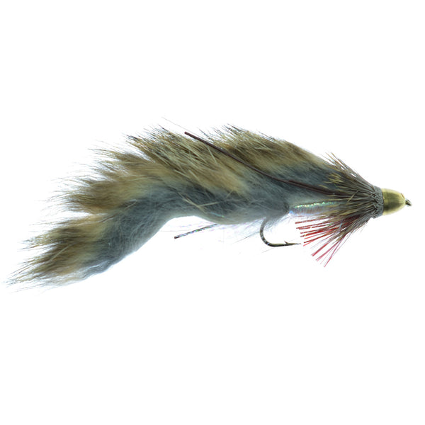 Cone Head Zuddler Trout and Bass Streamer Fly -Lunchables - Natural - Hook Size 4
