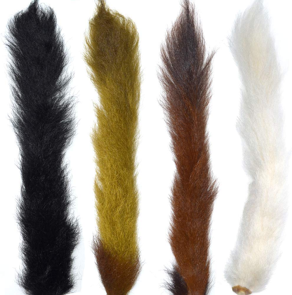 Select Grade Calf Tails - Kiptails - Master Pack - 4 Colors - Natural White Black Brown Olive