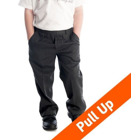 384-Boys School Pull-up Trousers