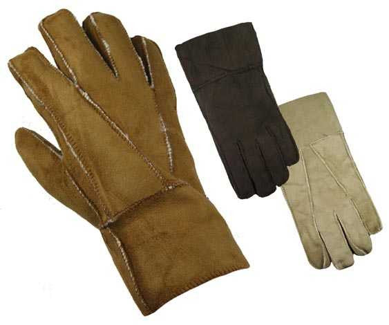 W776 Men's Winter 100% Suede Leather Insulated Lined Gloves 1pp - 98776