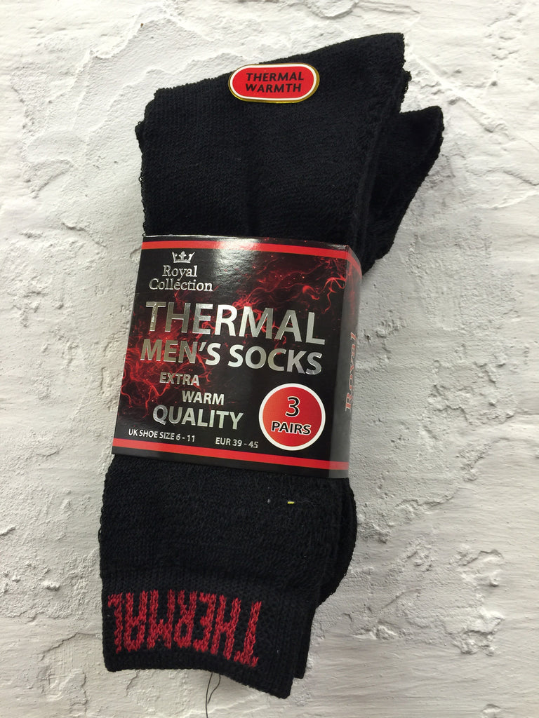 715-Thermal Mens Socks Extra Warm Black / Mix