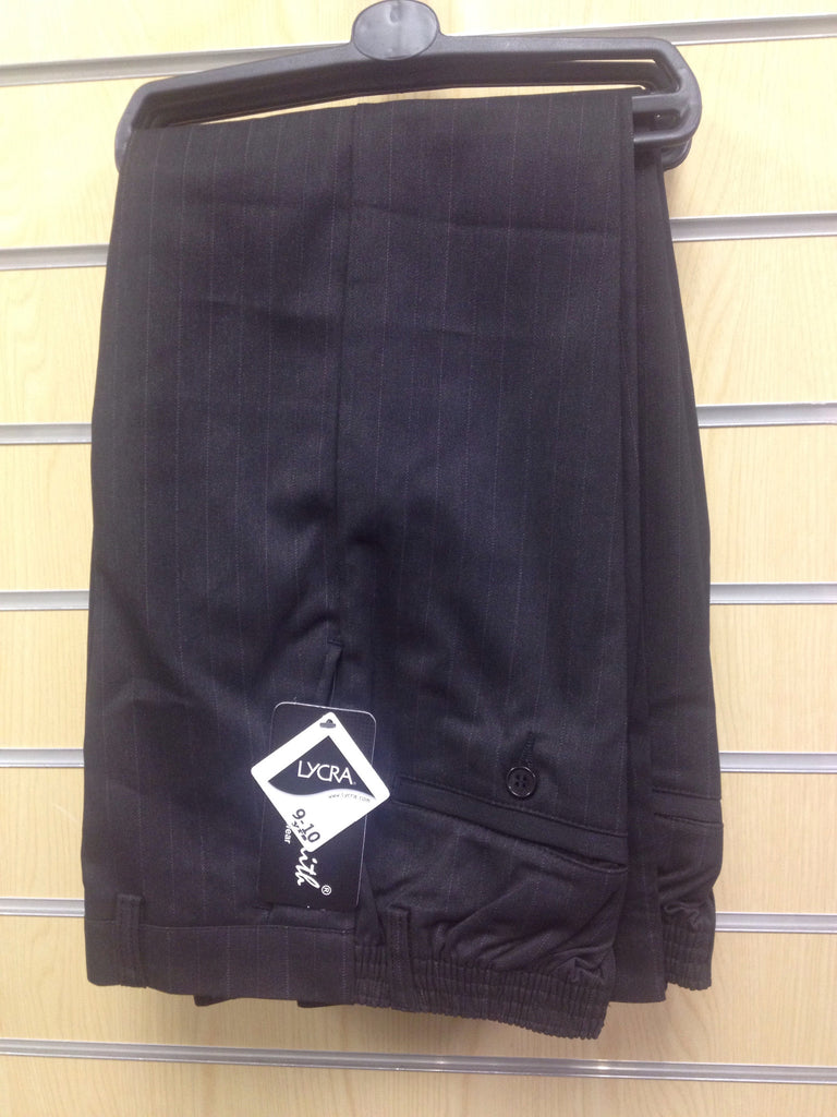 School boys pinstripped trousers