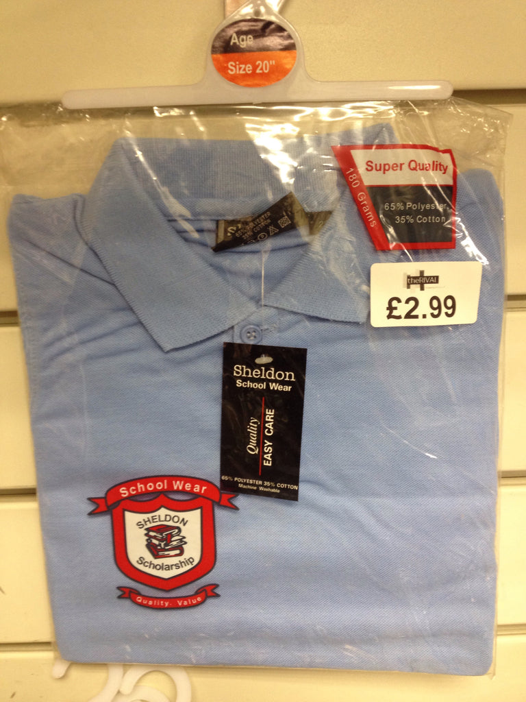 School Polo Shirt Blue