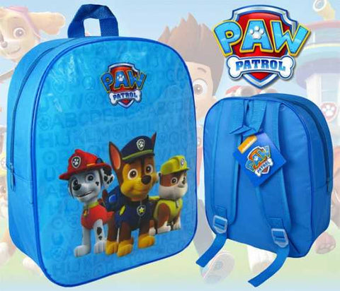 "654-Boys Official PAW Patrol ""Chase, Marshall & Rubble"" Character Nursery School Backpack"