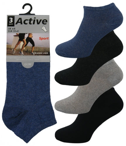 807- Boys Cotton Trainer Socks