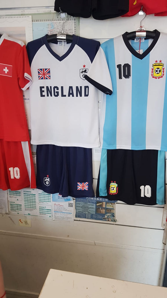 017 Kids England Short set