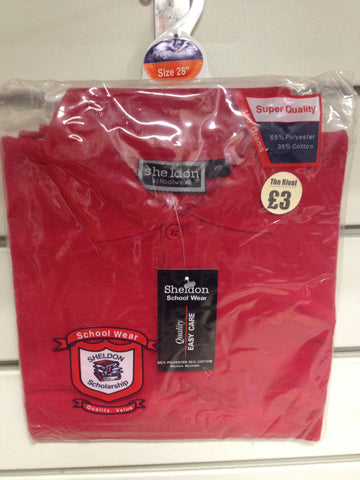 630-School Polo Shirt Red